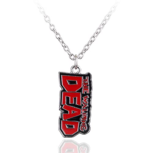 Tv Periférico Jewelry The Walking Dead Collar con colgante de logotipo de la letra para hombre, regalo de Navidad, regalo de personalidad, joyería Cosplay