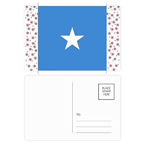 Somalië Nationale Vlag Afrika Land Kerstmis Bloem Postkaart Thanks Card Mailing 20 stks