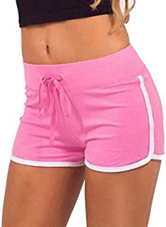 Popular Summer Women Sport Gym Workout Waistband ny Yoga Elastic Shorts Pants Female Loose Big Yard Sport Shorts Yoga Shorts:01, S