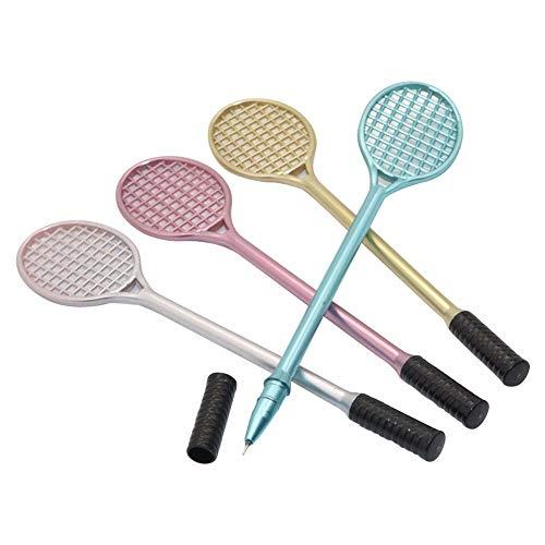 Gaoominy 12 Stuecke Gel Stift Schreib Punkt 0.38Mm Kreatives Briefpapier Nette Tennis Schlaeger Modellierung Badminton Schlaeger Bleistift Stylus Stift