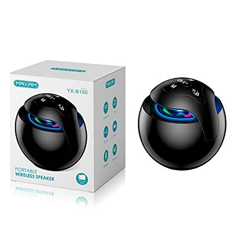 offershop Altavoz Bluetooth 5.0 estéreo portátil inalámbrico sin hilos efecto luz colores potencia 5 W música MP3 USB tarjeta TF manos libres Smartphone PC Tablet