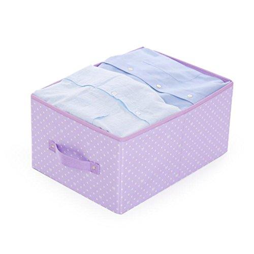 Xuan - Worth Another Pourpre Point Blanc Motif Suspendu Sac tiroir boîte Aucune boîte de Rangement Couverture 24L vêtements Finition boîte Pliante boîte de Rangement (Couleur : 4pcs)