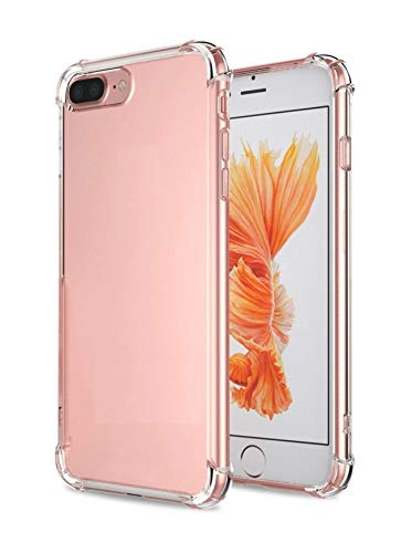 Plus Protective Soft Transparent Shockproof Hybrid Protection Back Case Cover for Apple iPhone 8 Plus