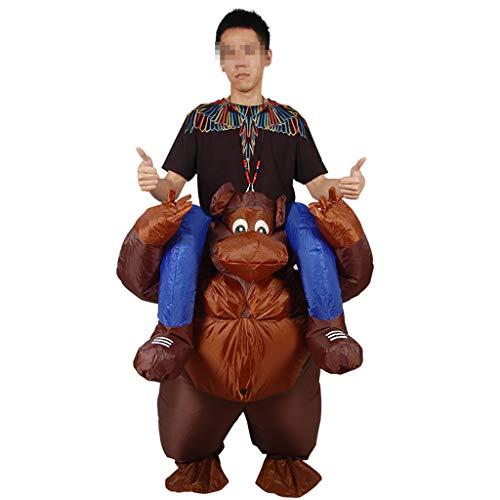 LXLTLB Aufblasbares Kostüm Tier Gorilla Verraten Hose Requisiten Weihnachten Komisch Kostüme Mit USB-Gebläse Für Erwachsene Über 150cm
