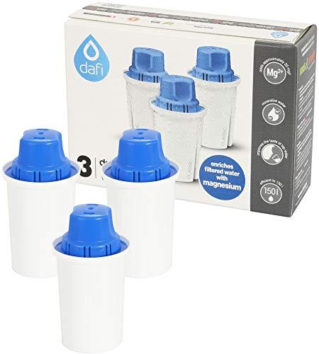 Dafi Classic Pack de 3 Cartouches Magnésium compatibles avec Brita Classic & Dafi Classic carafes filtrantes