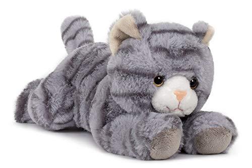 Unbekannt Stofftier Katze 28 cm, grau, Kuscheltiere Plüschtiere Katzen Kätzchen Kater Haustiere Tiere