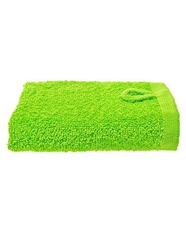 Julie Julsen Gant de toilette en 12 couleurs au choix doux et absorbant Öko Tex vert pomme 30 x 30 cm