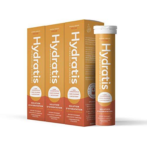 HyDRATIS Pastillas de hidratación acelerada – Bebida electrolitos Magnesium, Zinc, Potasio – Pack de 3 x 20 pastillas – Pesca