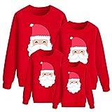 Sudaderas Navideñas Familiares Sudadera Navidad Familia Jersey Navideño Familiar Jerseys Navideños Mujer Hombre Talla Grande Pullover Jersey Feo Navidad Niño Niña Niños Chica Chico Christmas Rojo L