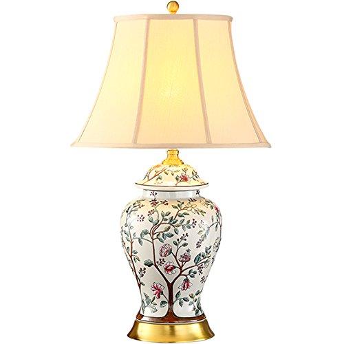 ZWL Lampe de Table En Céramique, Cloisonné Céramique Lampe De Table En Céramique Rétro jaune Lampe De Table Chambre Lampe De Chevet Hôtel Villa Lampe Mariage Salle De Vacances Cadeaux Luminaires E27 Lampe Titulaire 40 * 67cm fashion.z ( taille : 40*67cm )