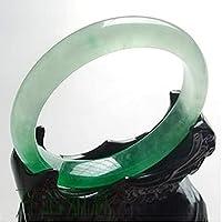 陳玉樹中国風翡翠ブレスレット ナチュラルビルズジェイドバングル54mm-64mm (Gem Color : MULTI, Metal Color : 58-60mm)
