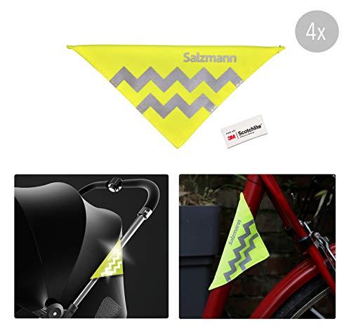 Salzmann 3M Reflektoren für Kinderwagen und Fahrräder | Sicherheitsreflektoren | Hergestellt mit 3M Scotchlite (4 Stück)