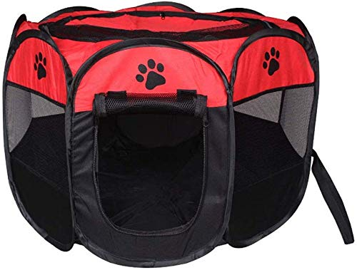 YLCJ Box voor huisdieren Opvouwbare laptop Puppy hond kat puppy Konijn Pen Cage Waterdichte Kennel Gordijn voor buitengebruik (Kleur: F, Maat: S), S, E