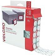 Velcro Brand - Cierres de velcro en la parte trasera | Perfecto para el hogar o la oficina, Monedas, Blanco, 200Pk