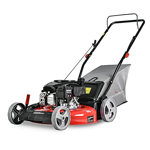 PowerSmart Lawn Mower, 21-inch & 144CC, Gas Powered Push Lawn Mower with 4-Stroke Engine, 3-in-1 Gas...