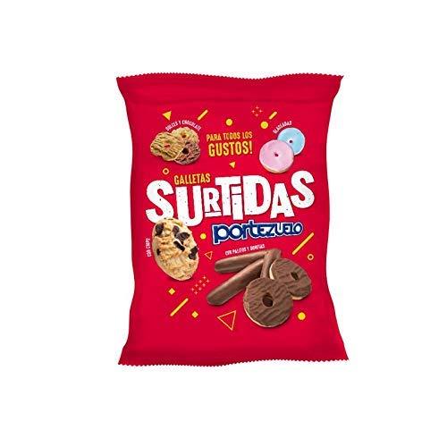 Portezuelos - Galletas Surtidas ( Dulces y Chocolates - Glaseadas- PAlitos y Donitas - Chips ) Producto Uruguayo Por Excelencia- 400 Gramos