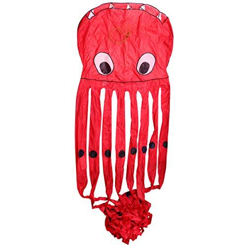 BESPORTBLE Octopus Flyer Drachen mit Bunten Band Langen Schwanz 8M Kinder Tier Drachen Fliegen Spielzeug Drachen Beach Park Outdoor Drachen Spielzeug
