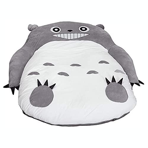 XKDWAN Totoro Colchón de Tatami Plegable, Diseño de Totoro Lazy para Niños, Colchoneta Ideal para Dormitorio o Dormitorio para Cama Espesar Tatami,120 * 80 cm