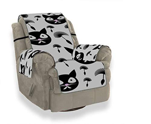 Rtosd Löwenzahn Samen Katze Tier Gepolsterte Sofa Schonbezug Für Ohrensessel Einzigartige Sofa Abdeckung Möbel Beschützer Für Haustiere Kinder Katzen Sofa
