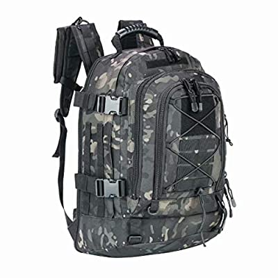 PANS Backpack for Men Large Military Backpack Tactical Waterproof Backpack for Work,School,Camping,Hunting,Hiking(black-multicam)