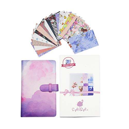 Wallet Mini Photo Album Bundle with 96 2x3 Photo Pockets & 20 Different Designed Border Stickers - Compatible with Polaroid Mint Snap Touch Z2330 PIC-300P Canon Ivy CLIQ Instax Fujifilm (Pink)