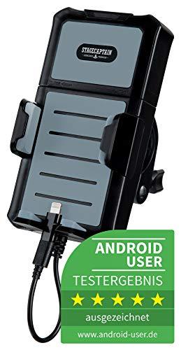 Stagecaptain Joyride Universal Fahrrad Handyhalterung mit Powerbank (5000 mAh Externer Akku, für 3,5