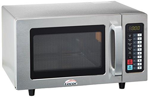Lacor 69325 69325-Horno microondas Profesional Fabricado, 25 L, 1000 W, 50 W, 25 litros, Acero Inoxidable, Blanco