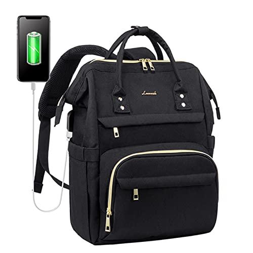 Mochila para mujer, USB de carga externa de 15,6 pulgadas, bolsa multifunción para hombres, mochila escolar impermeable para adolescentes