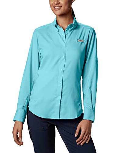 Columbia Women's Tamiami II Long Sleeve Shirt, Clear Blue, Medium