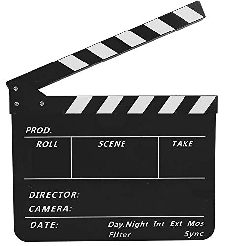Tonysa Regieklappe, 30 x 24.8 x 1.8 cm Filmklappe International Directors Szenenklappe Clapbaord, 3 mm dickem Acryl Regisseur Szene Film Board für Werbung/Dekoration/Cosplay(PAV1BBE)