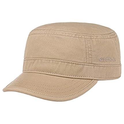 Stetson Gosper Army Urban Cap Mujer/Hombre - Gorra Militar de algodón - Gorra Militar con protección UV - Gorra Verano e Invierno - Gorra Beige Oscuro M (56-57 cm)