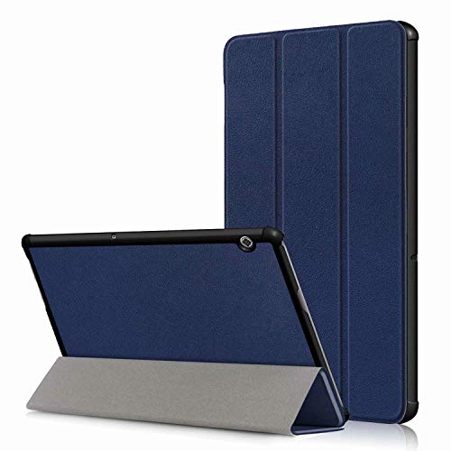 Boleyi Tablet Case for Huawei MatePad 5G, Slim Stand Smart PU Cover Case With Auto Wake/Sleep Function, for Huawei MatePad 5G inch Tablet,Dark blue