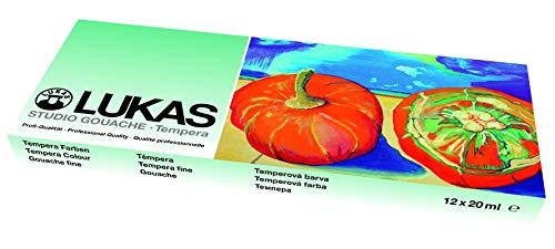 Nerchau 1048891 Temperafarbe / Schulmalfarbe (20 ml) 12 Farben