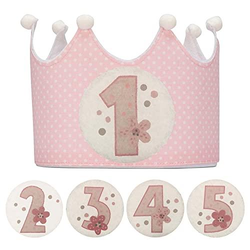 Kembilove Corona Cumpleaños – Corona Primer Cumpleaños niño – Fiesta de cumpleaños Smas...