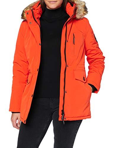 Superdry Womens Everest Parka Jacket, Orange, M (Herstellergröße:12)