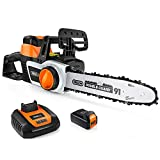 TACKLIFE Cordless Chainsaw, 40V Chainsaw, 30cm OREGON Chain, Copper...