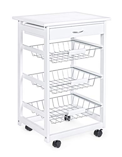 YES EVERYDAY Big Chef Carrello cucina bianco, Large