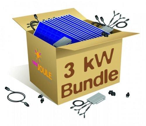 MiniJoule Bundle 3 kWp Enphase 3000 + Envoy PV-Anlage Photovoltaikanlage