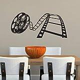 Cartel de películas Cine Calcomanía de pared Cartel de Showtime Cartel de cine en casa Cita Etiqueta Regalo Video Decoración Tira de película Murales otro color 93x42cm