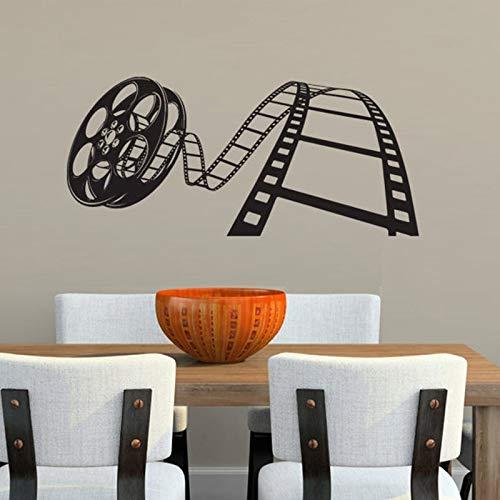 Cartel de películas, calcomanía de pared de cine, cartel de Showtime, cartel de cine en casa, pegatina de cita, regalo, decoración de vídeo, tira de película, murales A6, 93x42cm