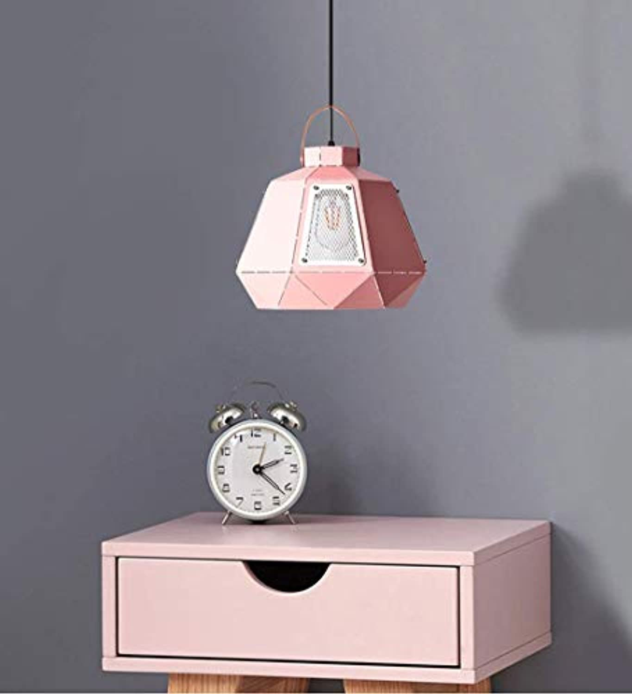 WuZhong F Kreative Deckenleuchte Nordic Macaron Kronleuchter Eisen Single Head LED Pendelleuchte Elegante Hngelampe