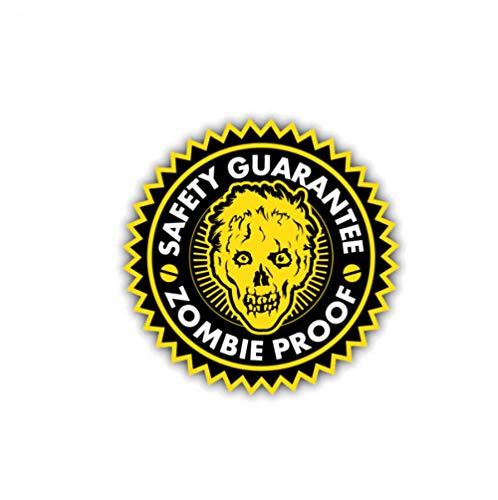 luyiwzd Vinyl Sticker Sticker Decals Veiligheid Garantie Zombie Proof Auto Sticker Reflecterende Decal Pvc 11Cmx11Cm