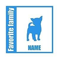 ForzaGroup 全犬種 全猫種対応 チワワ4 (134-54) 犬 イヌ 車 ステッカー 名前入れ