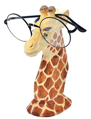 CHICOLY Giraffe/Hahn Tier Holz Brillenhalter, Brillenhalter Brillenständer Sonnenbrille Halter Zuhause Dekoration