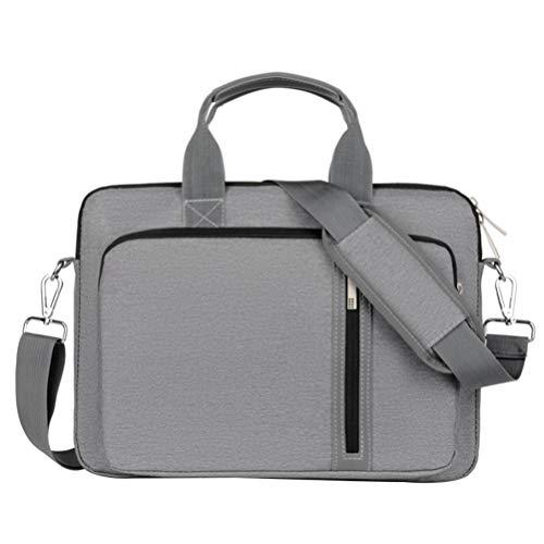 SOLUSTRE Laptop Sleeve Bag Computer Carrying Case 15.6 Inch Nylon Water Resistant Durable Briefcase Office Messenger Bag For Men Women
