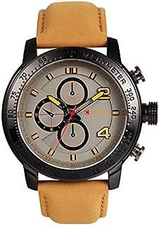 ساعة كورين 8190 جلد للرجال -ابيض