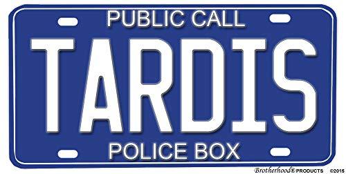 Lotusworld public call police box tardis design aluminum license plate license plate 6x12 inches