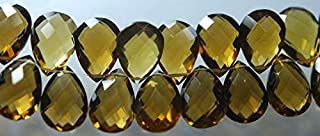 Jewel Beads Natural Beautiful jewellery 4 Match Pair, Super Rare AAA Honey Quartz Faceted Pear Briolettes Calibrated Size 16x12mmCode:- JBB-30122