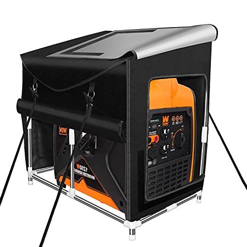 ZTTXL Small Inverter Generator Tent Running Cover, Ultra Heavy Duty Tarpaulin Enclosure, for Most 1000~2300 Small Inverter generators, (Small Black)