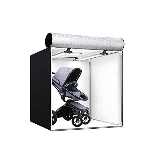 Portable Photo Studio, Photography Studio Light Box Shooting Tent Kit LED Dual Color Temperature Dimming Professional Softbox, 80×80×80cm